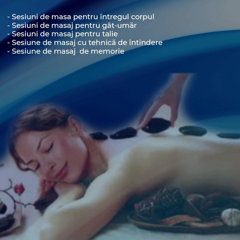 Programele recomandate pentru sesiunile de masaj  de 16 minute