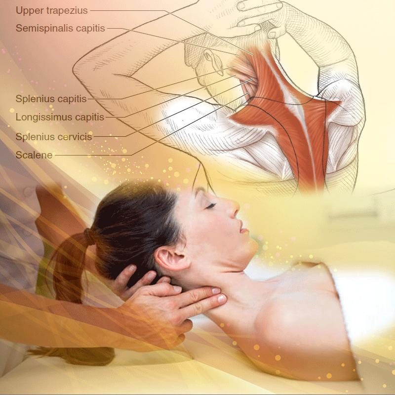 Masaj 4D concentrat pe zona gâtului