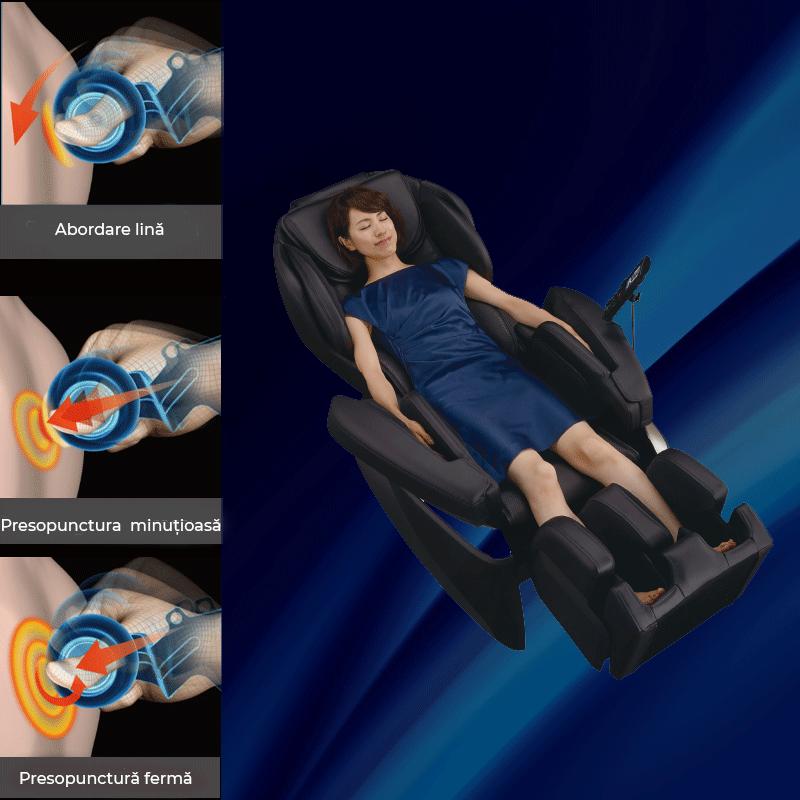 Masaj de frământare cu mecanism 5D-AI